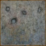 Mixed media on canvas. 144 x 150 cm