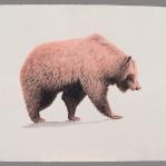 Aguada de pigmento sobre papel indio hecho a mano 75x55 cms