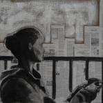 Clara.Mixed media on canvas. 100 x 81 cm