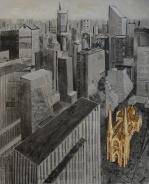 Saint Patrick's.Mixed media on canvas. 100 x 81 cm