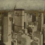 Manhattan. Mixed media on canvas. 100 x 100 cm