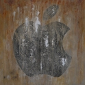 Apple. Mixed media on canvas. 100 x 100 cm