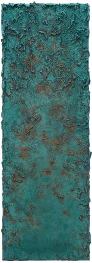 Mixed media on canvas. 150 x 50 cm