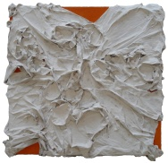 Mixed media on canvas. 63 x 63 cm
