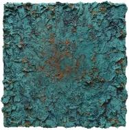 Mixed media on canvas. 62 x 62 cm