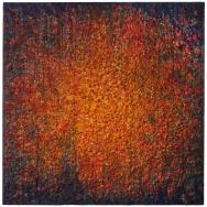 Mixed media on canvas. 195 x 195 cm